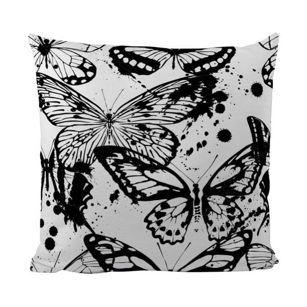 Polštářek Black Shake Butterflies, 50x50 cm