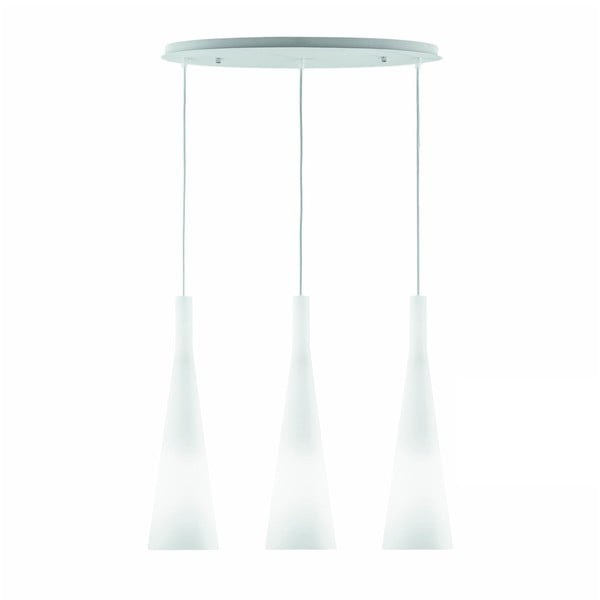Bílé závěsné svítidlo Evergreen Lights Lauren