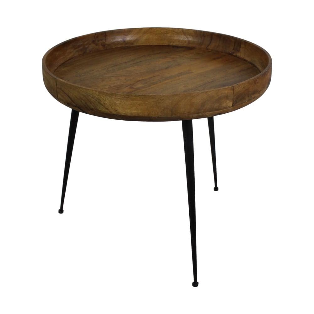 Příruční stolek z mangového dřeva HSM collection Ventura, ⌀ 60 cm