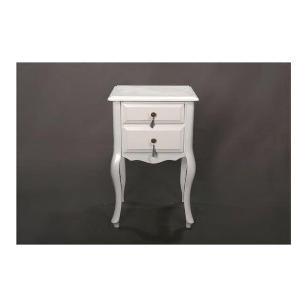 Odkládací stolek Veronica White, 45x39x70 cm