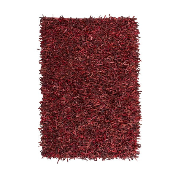 Kožený koberec Rodeo 80x150 cm, červený