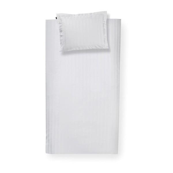 Bílé bavlněné povlečení na jednolůžko Damai Linea White, 200x140cm