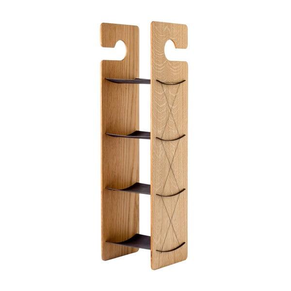Závěsná/stojací police Smardrobe 59x15 cm, dub a černá