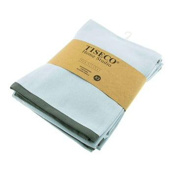 Set 3 prosoape de bumbac Tiseco Home Studio, 50 x 70 cm, albastru turcoaz imagine