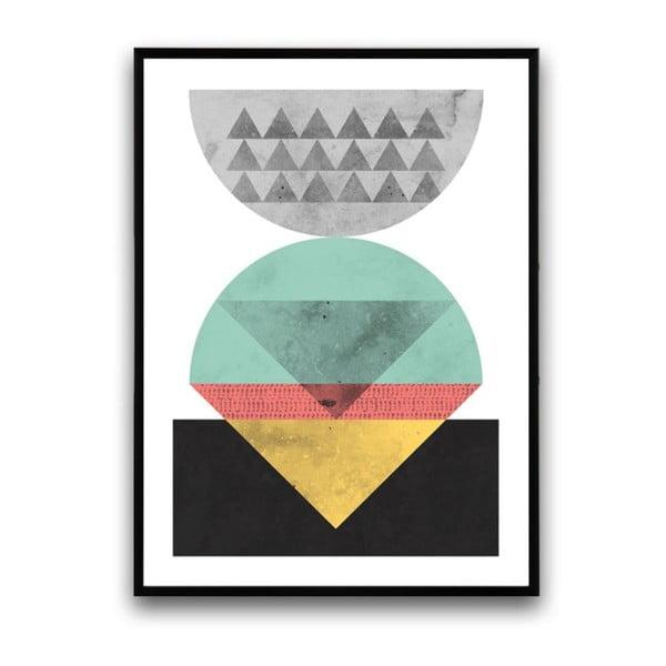 Plakát v dřevěném rámu Juglans, 38x28 cm