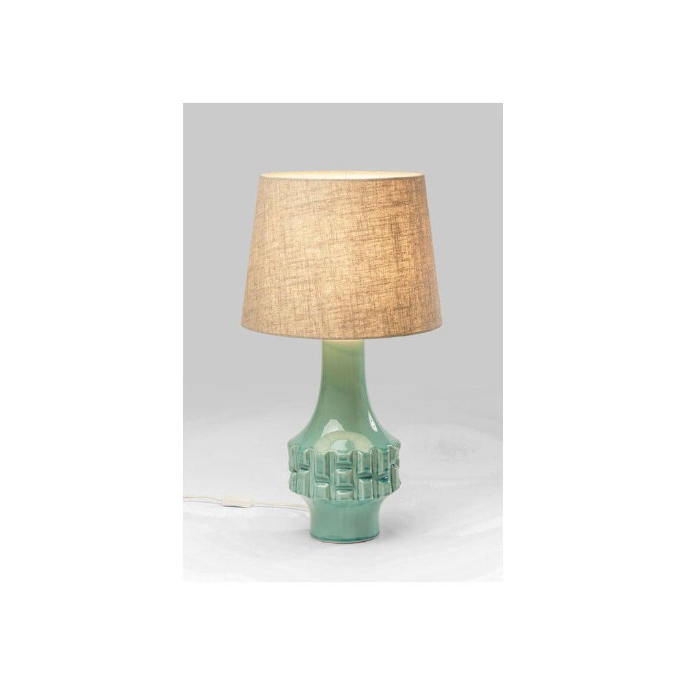 Tyrkysová stolní lampa Kare Design Braid
