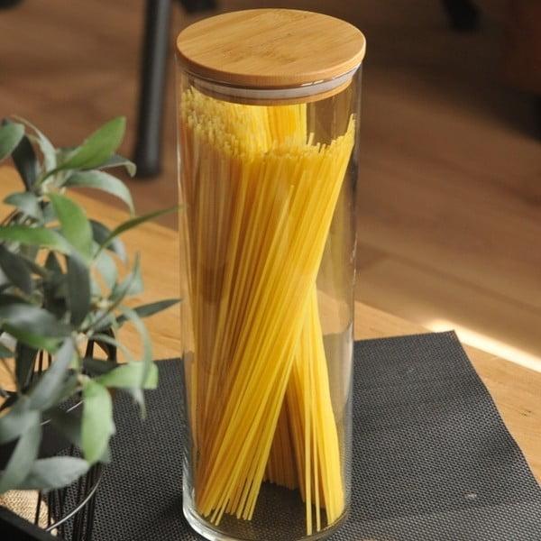 Pojemnik na spaghetti z wieczkiem z bambusu Bambum Alpha Storage