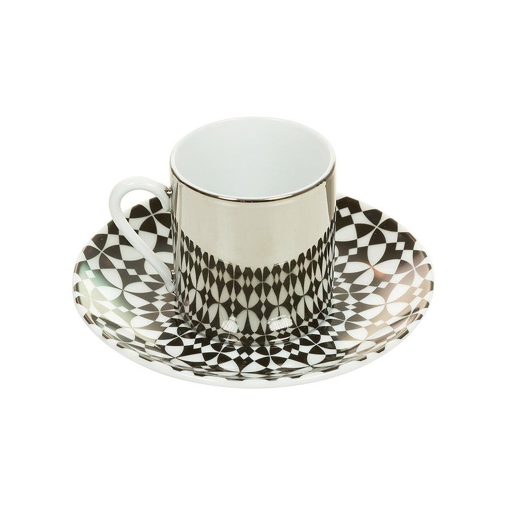 Porcelánový šálek s podšálkem Santiago Pond Magic Taza, 80 ml