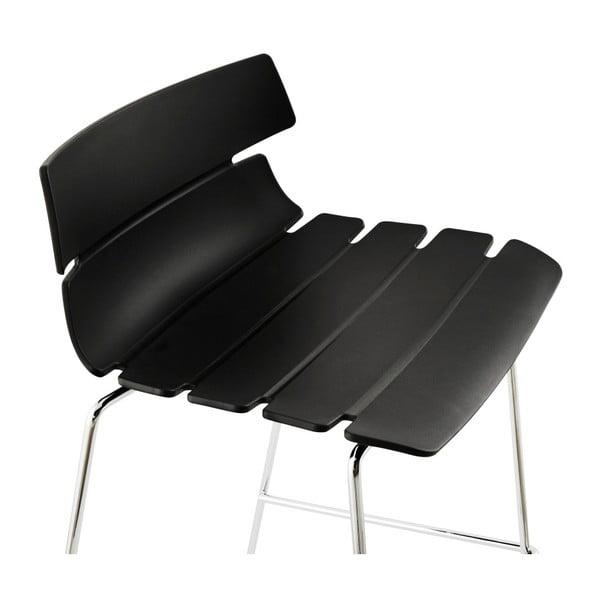 Černá barová židle Kokoon Reny, výškasedu77cm