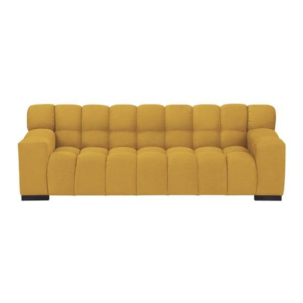 Žlutá trojmístná pohovka Windsor & Co Sofas Moon