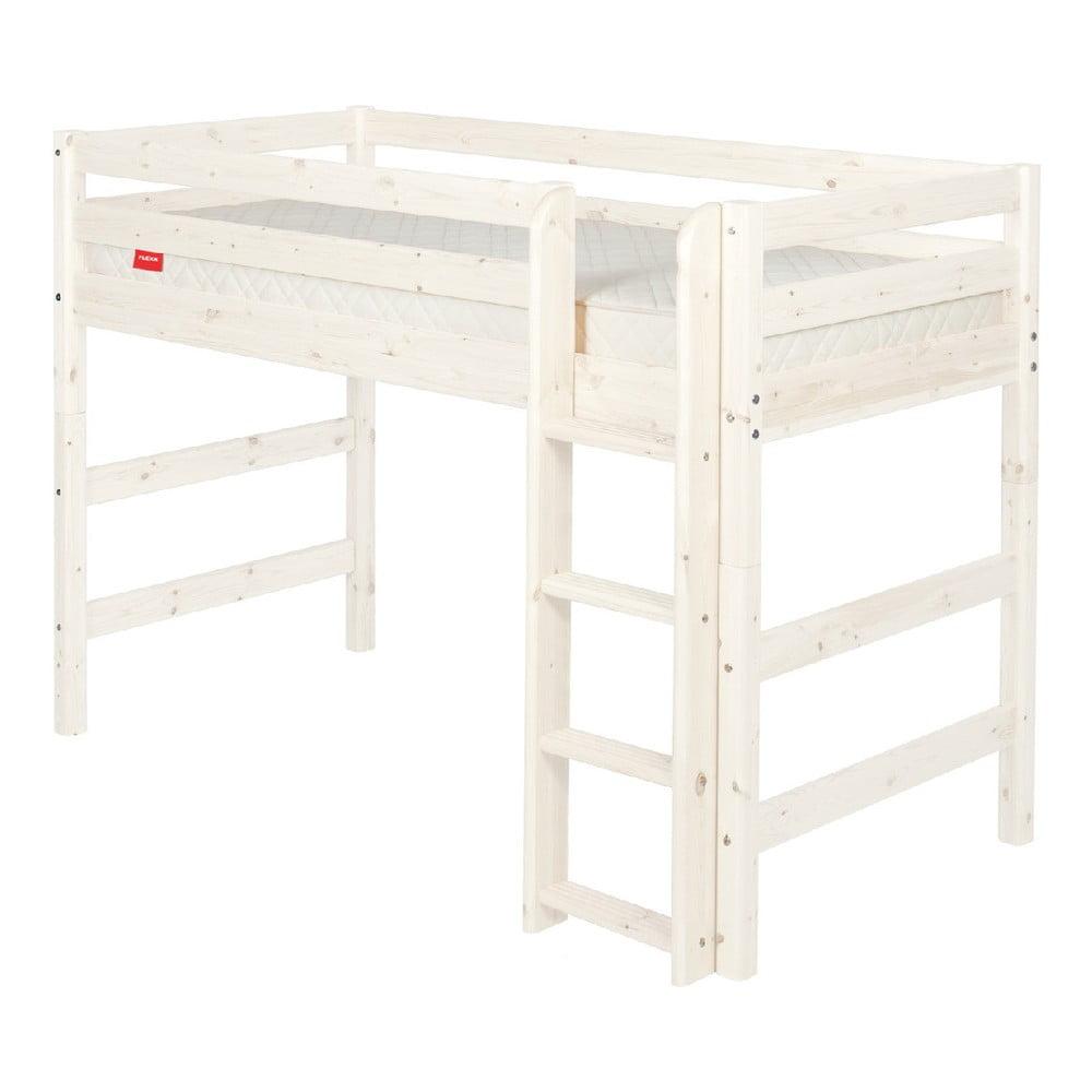 Produktové foto Bílá dětská vyšší postel z borovicového dřeva Flexa Classic, 140x200cm