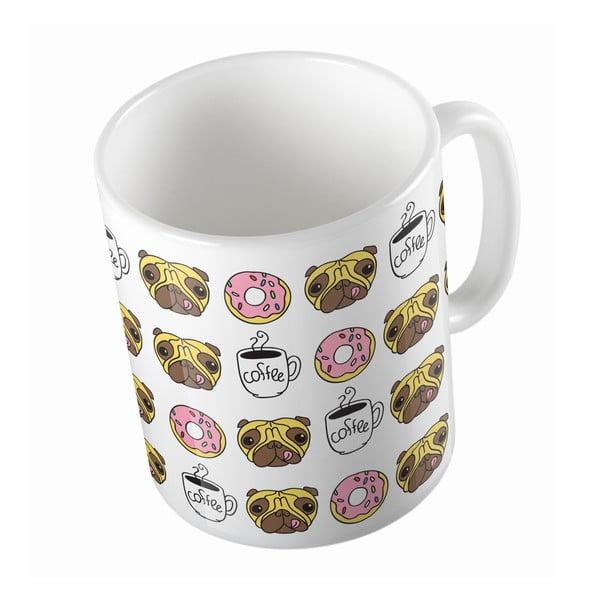 Keramický hrnek Butter Kings Coffee Time With Pug, 330 ml