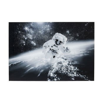 Tablou Kare Design Glass Man in the Sky, 150 x 100 cm, alb – negru de la Kare Design