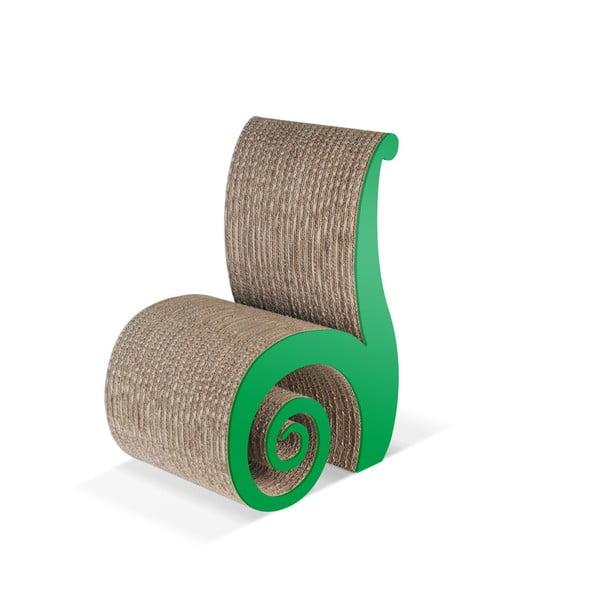 Dětská kartonová židle Chiocciolina Green