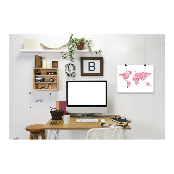 Poster Americanflat World Blush, 30 x 42 cm