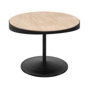 Odkládací stolek s deskou z dubového dřeva Wewood - Portuguese Joinery Drop, Ø60cm
