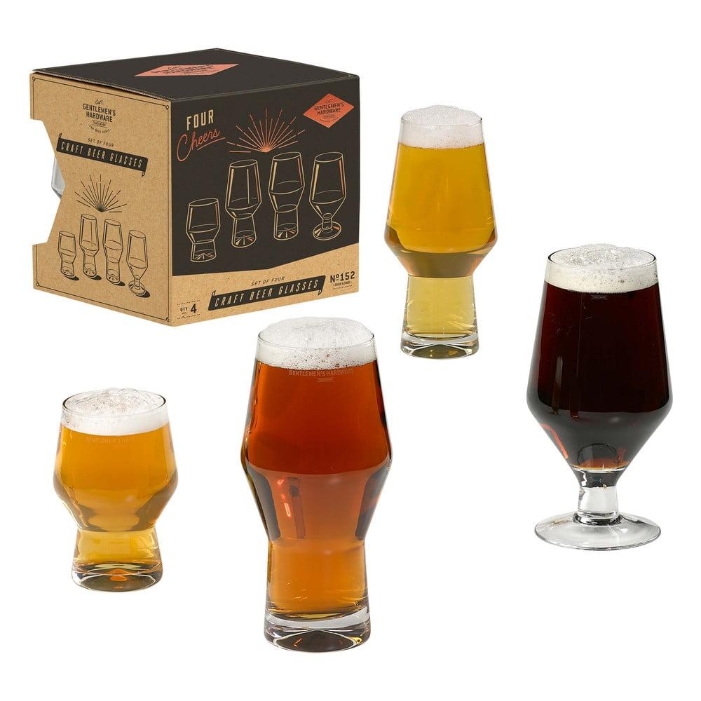 Sada 4 sklenic na pivo Gentlemen's Hardware Craft Beer