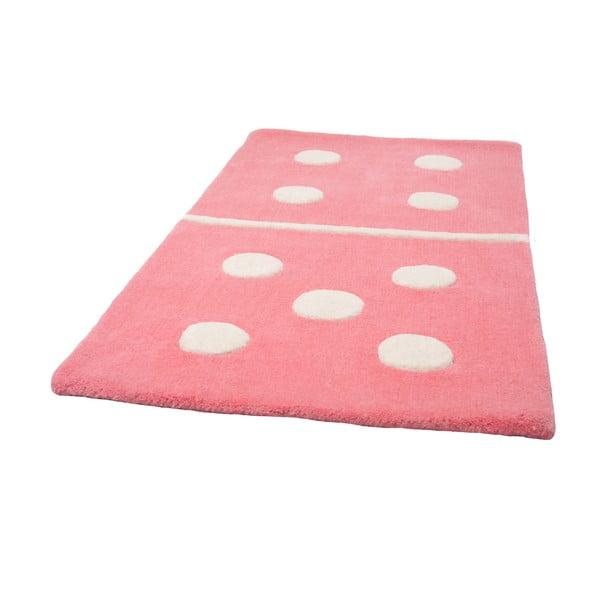 Dětský růžový koberec Domino, 60x120 cm