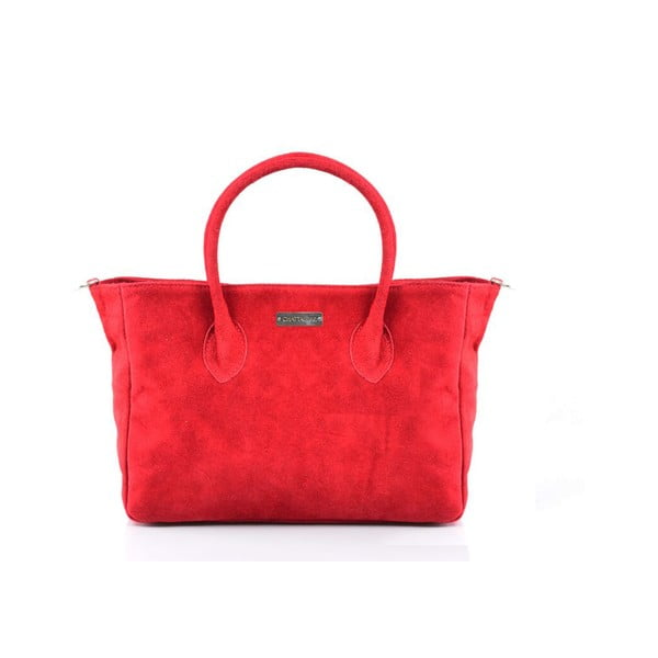 Kožená kabelka Carmina, červená