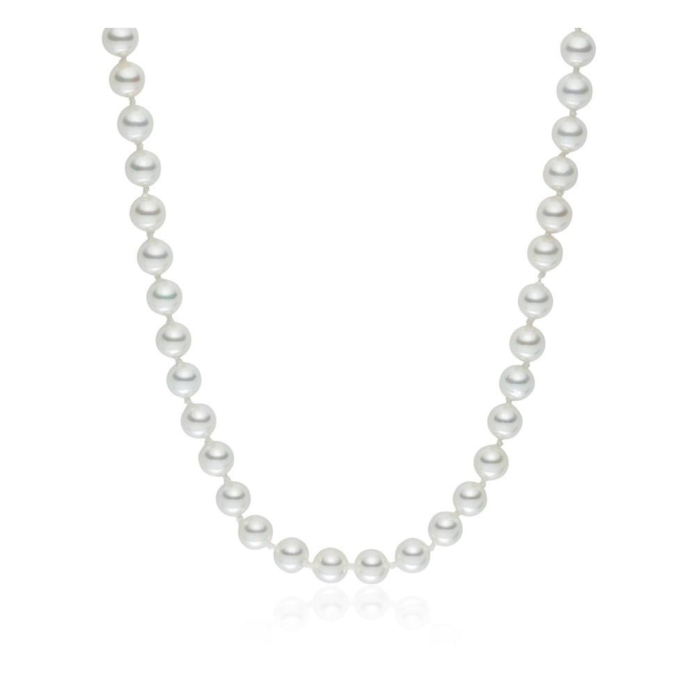 Bílý perlový náhrdelník Pearls Of London, délka 50 cm