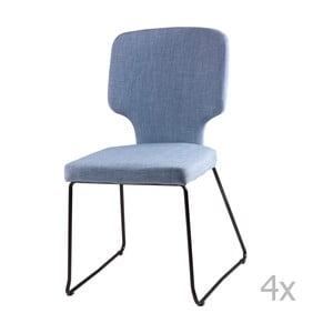Sada 4 světle modrých jídelních židlí sømcasa Dana