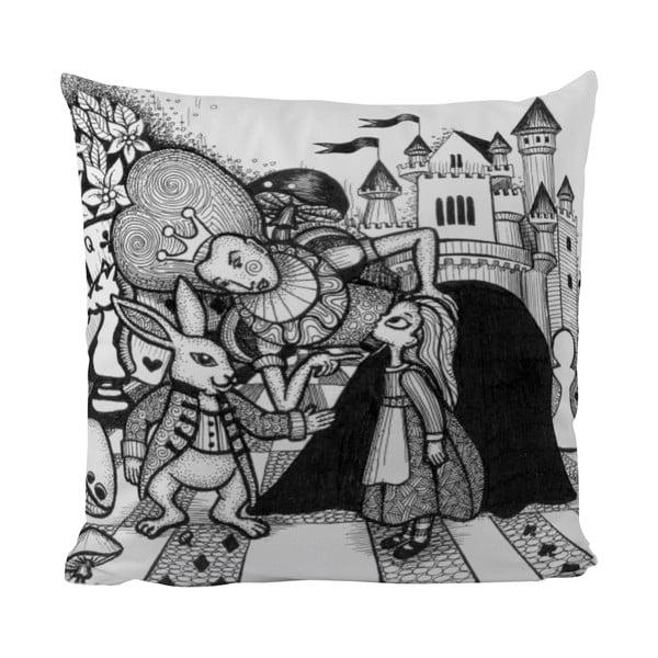 Polštářek Black Shake Wonderland Queen, 50x50 cm
