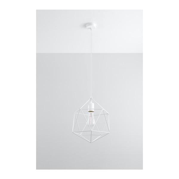 Bílé závěsné svítidlo Nice Lamps Donato