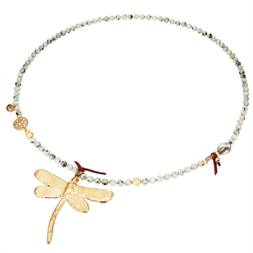 Dámský náhrdelník ve zlaté barvě Runway Dragonfly