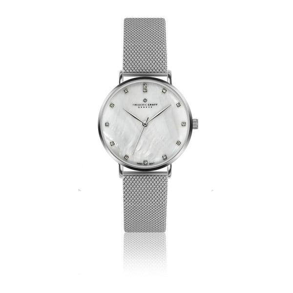 Dámske hodinky s antikoro remienkom v striebornej farbe Frederic Graff Kartulio
