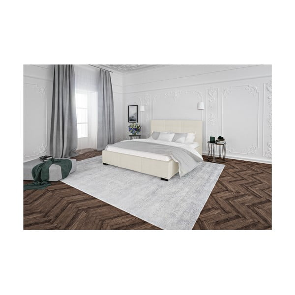 Krémově bílá dvoulůžková postel s úložným prostorem Guy Laroche Home Poesy, 180x200cm