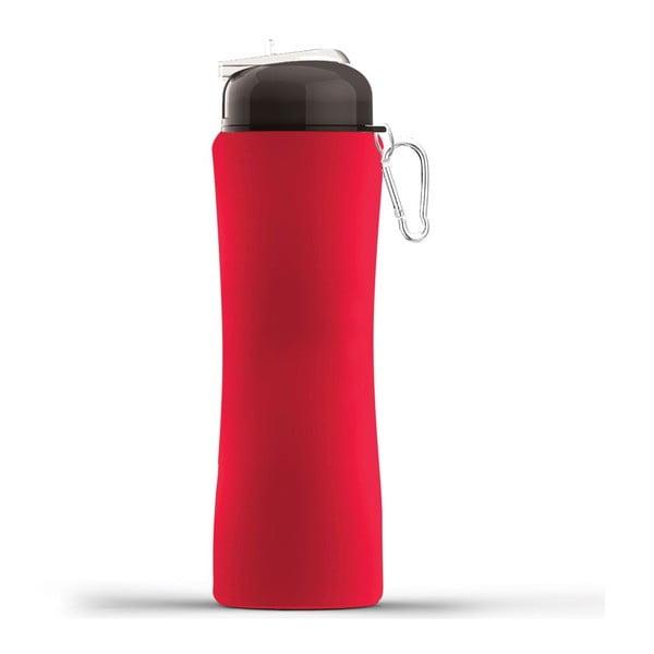 Revoluční sportovní lahev Sili-Squeeze, červená, 650 ml