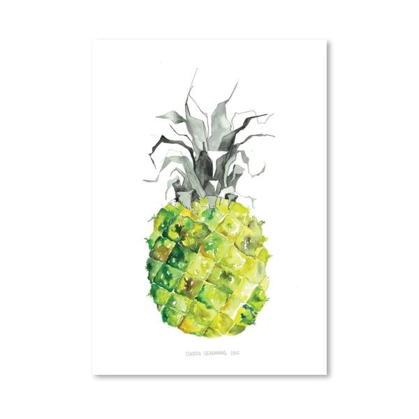 Plakát Pineapple Yellow, 30x42 cm