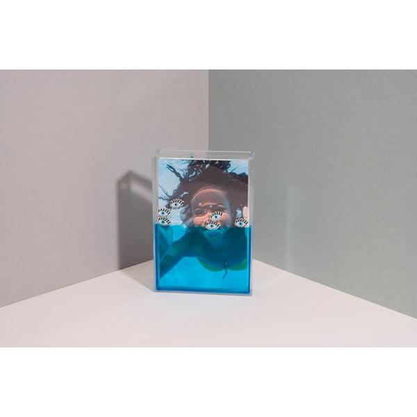 Ramă foto cu apă DOIY Eye, 11 x 16 cm, albastru