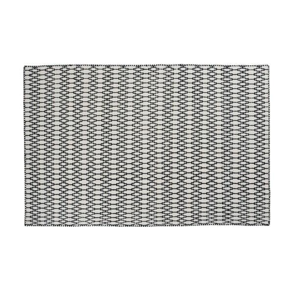 Vlněný koberec Linie Design Elliot White Black, 140x200 cm