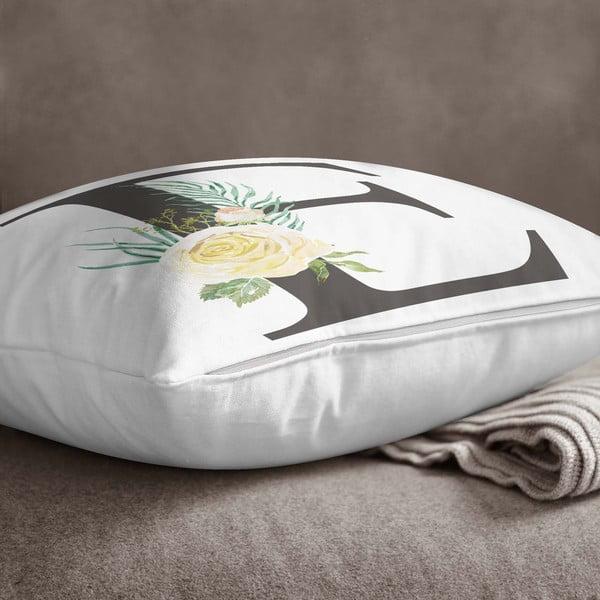 Față de pernă Minimalist Cushion Covers Floral Alphabet E, 45 x 45 cm
