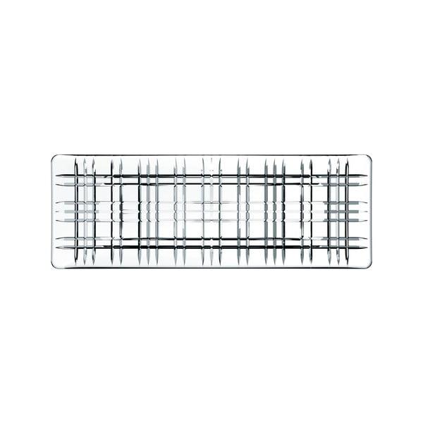 Tavă pătrată pentru servit din cristal Nachtmann Square Plate, lungime 42 cm