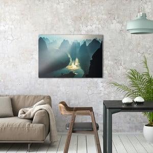 Skleněný obraz OrangeWallz Mountains, 60 x 90 cm