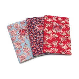 Sada 3 zápisníků Makenotes Floral Quilt