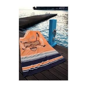 Osuška US Polo Orange, 75x150 cm