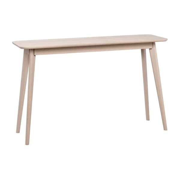 Konzolový stolek z běleného dubového dřeva Folke Yumi