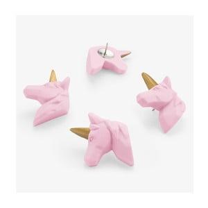 Sada 5 připínáčků Just Mustard Unicorn