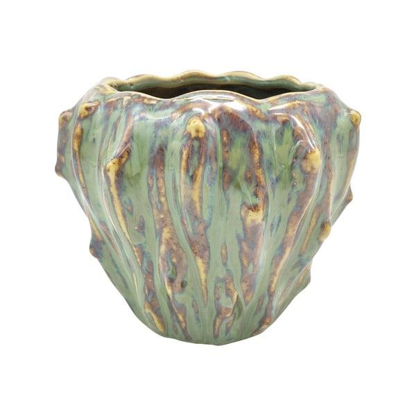 Zielona ceramiczna doniczka PT LIVING Flora, ø 12,5 cm