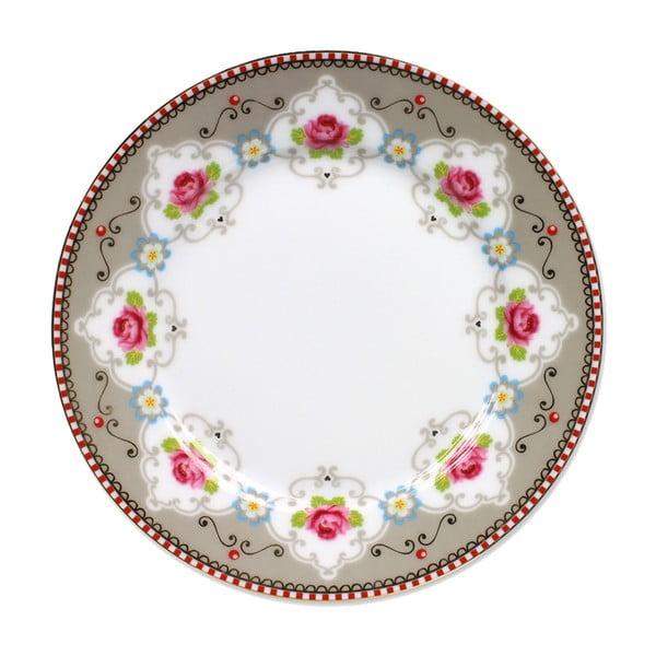 Dezertní talířek Blossom Rose 17 cm, khaki