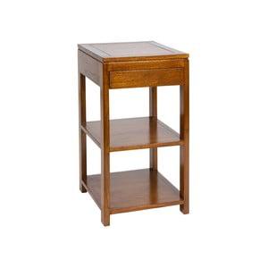 Odkládací stolek ze dřeva mindi se zásuvkou SantiagoPons Mindi