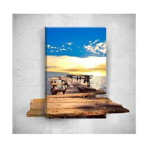 Nástěnný 3D obraz Mosticx Little Dock, 40 x 60 cm