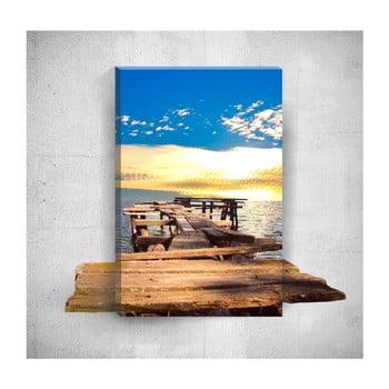 Tablou de perete 3D Mosticx Little Dock, 40 x 60 cm