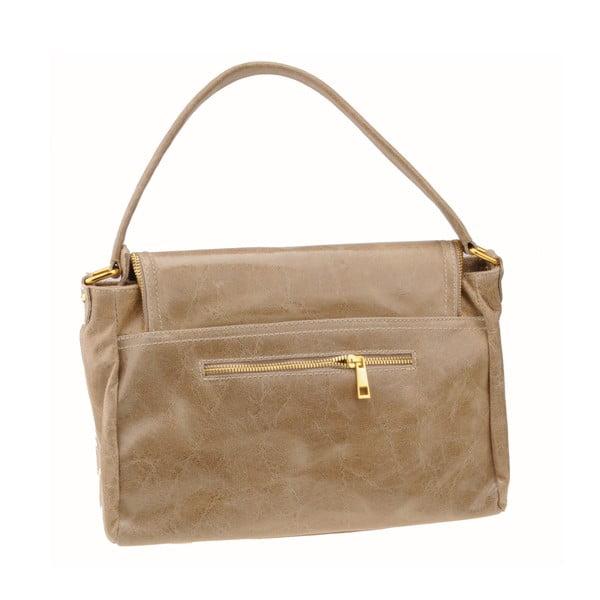 Kožená kabelka Diadema, béžová