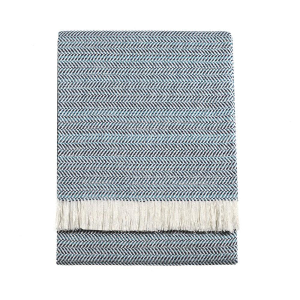 Modrá deka Euromant Summer Toscana, 140 x 180 cm