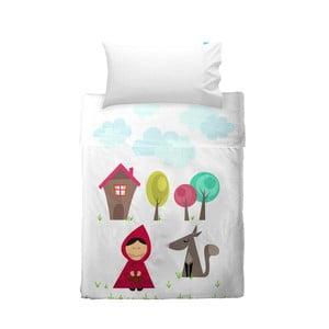 Dětský povlak na polštář a přehoz Mr. Fox Grandma, 120x180 cm