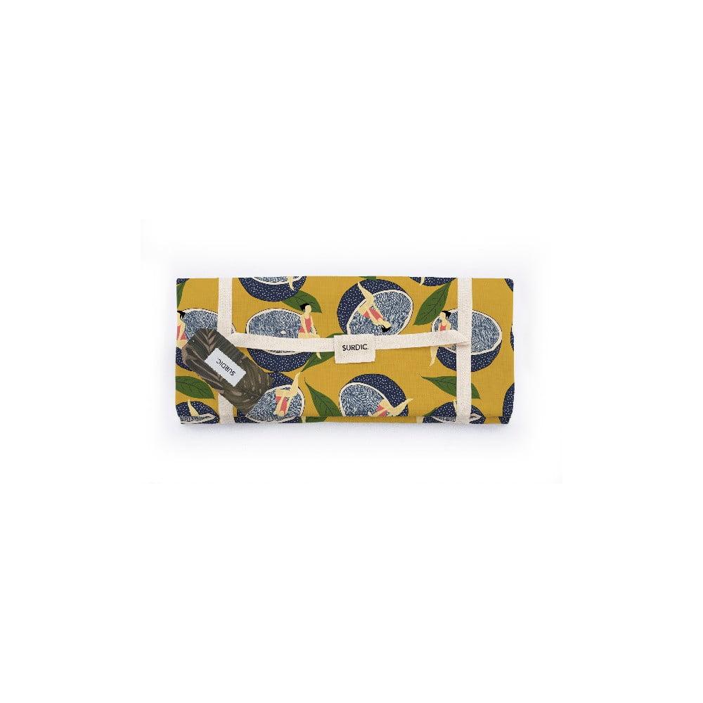 Pikniková deka Surdic Manta Picnic Lemmon s motivem citrónů, 170 cm